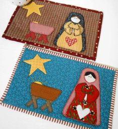 Nativity Mug Rug Pattern - Quilting Digest