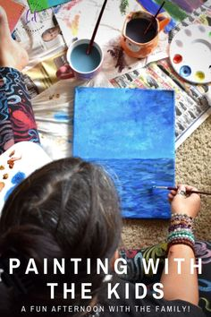 I couldn't be more excited to be creating art with my kids this summer using different products, mediums, and methods. Creating art with kids is SO important! Projects For Kids, Art Projects, Man Cave Inspiration, Fun Crafts, Crafts For Kids, Art For Kids, Kid Art, Preschool Kindergarten, Diy Wall Decor