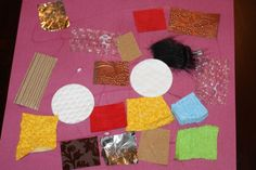 Introducing the 5 Senses: Touch.  Create a texture collage using different materials.