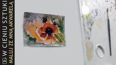 Kwiaty w akwareli - test papieru. Watercolor Flowers, Free, Paper, Floral Watercolor
