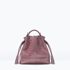 MINI LEATHER BUCKET BAG-Handbags-WOMAN | ZARA United States