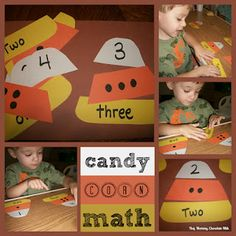 Candy Corn Math with Printables. Great center activity!