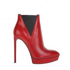 SAINT LAURENT - killer heel boots in red