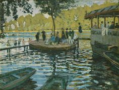 """Claude Monet, """"La Grenouillère,"""" 1869. Oil on canvas, 75 x 100 cm (29 1/2 x 39 3/8 in.). Photo: The Metropolitan Museum Of Art, New York. H.O. Havemeyer Collection, Bequest Of Mrs. H.O. Havemeyer, 1929."""