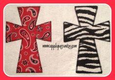 Simple Cross (zig zag and double zig zag stitch)