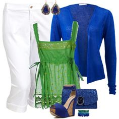 Blue & Green, created by feelgood35 on Polyvore