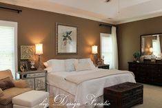 diy Design Fanatic: Decorating A Master Bedroom On A Budget... love these colors together