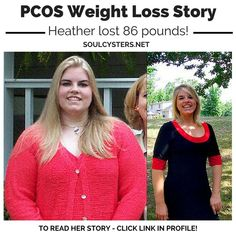 She lost 86 pounds with PCOS.  Read her story...
