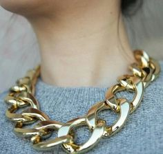 Over-sized chain | necklace | jewelry design