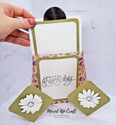 Hi everyone, today I'm sharing these unusual Diamond Gatefold cards. You all know I love a fun fold card and I'm always looking at ways to create new folds or adapt folds that have alre… Fancy Fold Cards, Folded Cards, Birthday Card Design, Birthday Cards, 3d Paper Crafts, Card Crafts, Paper Crafting, Card Making Tutorials, Easel Cards