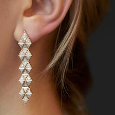 Spicin' up Monday with these trillion diamond statement earrings. #justbecause #whynot