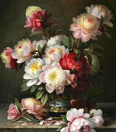 Paul de Longpré Peonies in a Vase 1884