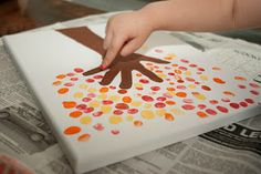 What fun decor and a collection of little hands and fingers. :) From Ashley to Awesome: A Fall Craft