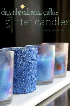 diy Candles:  DIY Candles DIY Home DIY Crafts:DIY Christmas Gifts: Glitter Candles