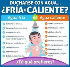 Beneficios de bañarte con #AguaFría o #AguaCaliente