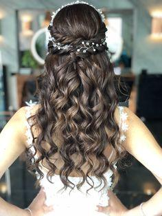 Hair Vine, Girl Hairstyles, Brain, Make Up, Long Hair Styles, Girls, Cute, Wedding, Beauty