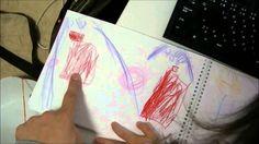 ももいろクローバーZ を3歳の子供が書いてみた。【ももクロの絵】I am lucky man かねちゃんのテレビ