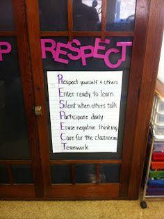 Classroom Rules - RESPECT Change the C to Clean Up! Great for Art room