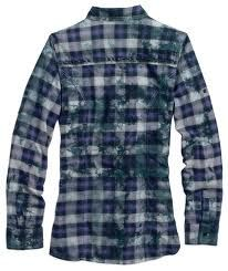 Harley-Davidson® Women's Black Label Plaid Top With Roll Sleeves 96373-12VW