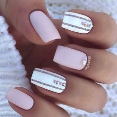 In seek out some nail designs and ideas for your nails? Here's our list of 28 must-try coffin acrylic nails for trendy women. Gorgeous Nails, Love Nails, My Nails, Square Acrylic Nails, Happy Nails, Nagel Gel, Cute Nail Designs, Nail Designs With Gems, Stripe Nail Designs