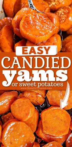 Sweet Potato Dishes, Sweet Potato Casserole, Sweet Potato Recipes, Yam Recipes, Side Dish Recipes, Cooking Recipes, Baked Sweet Potato Oven, Candied Yams Recipe, Candied Sweet Potatoes