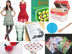 Fun Retro Housewife-Themed Bridal Shower - Articles & Advice   mywedding.com