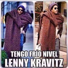 I'm Lenny-Kravitz-level cold!!