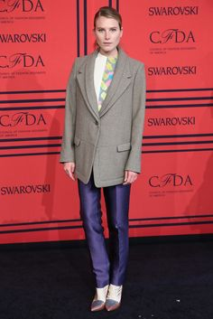 Dree Hemingway in Creatures of the Wind On the Red Carpet at the CFDA Awards [Photo by Evan Falk]