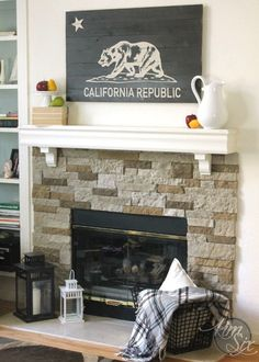 A DIY California Republic Flag Inspired Sign.. What a great project, you could do it for any state!