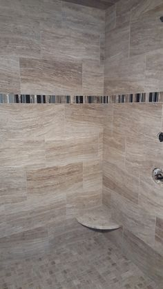 Shower: Marazzi Silk Glazed Porcelain Sophisticated Beige with Century Skyline London Mosaic. (All products still available) Hardwood Floors, Flooring, Bathroom Design Luxury, Bathroom Wall, Wall Tiles, Backsplash, Tile Floor, Porcelain, Master Baths