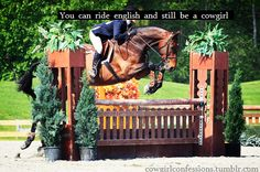 I ride both. I barrel race and I jump. No discipline is better than the other<3