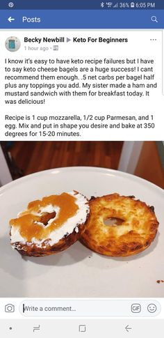 Low carb bread bagels
