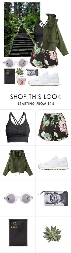 """Untitled #309"" by danielagreg ❤ liked on Polyvore featuring Alöe, H&M, Topshop, New Balance, American Apparel and Flight 001"