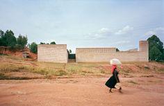 Clay brick education centre in Rwanda by Dominikus Stark Architekten