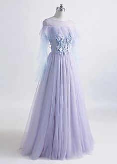 Magbridal Modest Tulle Jewel Neckline Floor-length A-line Prom Dress With Beaded Lace Appliques Pretty Prom Dresses, Unique Prom Dresses, A Line Prom Dresses, Stunning Dresses, Ball Dresses, Ball Gowns, Evening Dresses, Wedding Dresses, Fantasy Gowns