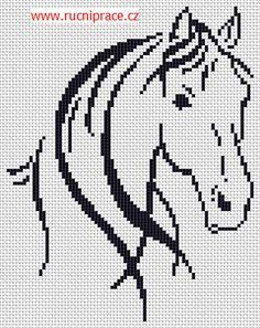 Horse, free cross stitch patterns and charts - www.free-cross-stitch.rucniprace.cz
