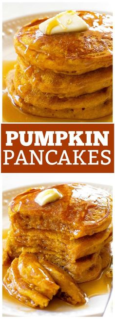 Pumpkin Pancakes are full of spices and the perfect fall breakfast. the-girl-who-ate-These Pumpkin Pancakes are full of spices and the perfect fall breakfast. the-girl-who-ate- Fall Breakfast, Breakfast Pancakes, Breakfast Dishes, Breakfast Recipes, Pancake Recipes, Oatmeal Pancakes, Pancake Ideas, Hashbrown Breakfast, Pumpkin Breakfast