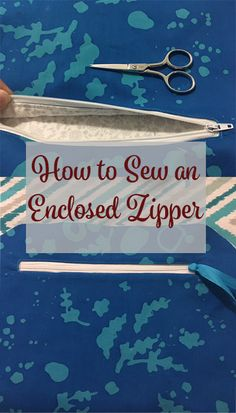 How to Sew an Enclosed Zipper to Your Bag Pocket - My Handmade Space