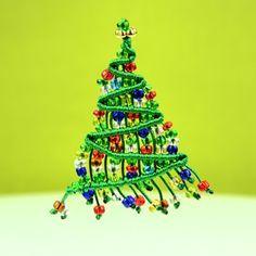 Beaded Macrame Christmas Tree