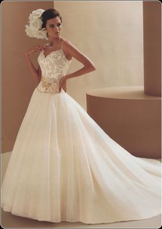 If you like vintage style, this is the dress - Vintage lace wedding dresses combined with beautiful embroidery