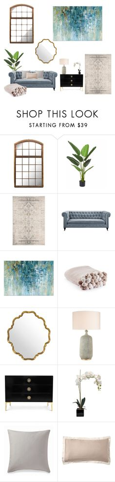 """living"" by natalieordnz on Polyvore featuring interior, interiors, interior design, home, home decor, interior decorating, Safavieh, Ellison, Pottery Barn and Home"