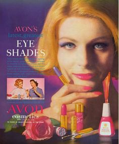 avoninsider:  FROM THE VAULT: GO BOLD We are obsessed with this vintage Avon ad from the 1960s and the bold eyeshadow, lipstick and nail sha...