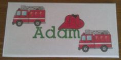 Childs bedroom door sign fire engines, personalised with your child's name. Handmade by a Conscious Crafty living with neuralgia and bulging discs Bedroom Door Signs, Bedroom Doors, Personalized Plaques, Childrens Gifts, Fire Engine, Kid Names, Kids Bedroom, Engineering, Handmade Gifts