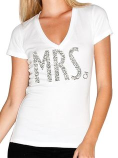 MRS. #Bride #Shirt with Glitter Print -- By #NobullWomanApparel, for only $24.99! Click here to buy http://nobullwoman-apparel.com/collections/wedding-bridal-shirts/products/mrs-bride-shirt-glitter-print-bride