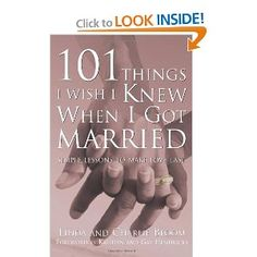 101 Things I Wish I Knew When I Got Married: Simple Lessons to Make Love Last - some great topics in this book! When I Get Married, I Got Married, Married Life, Pre Marriage Counseling, Premarital Counseling, Wedding Beauty, Dream Wedding, Wedding Stuff, Love Couture