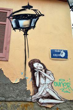 Street art, Thessaloniki Amazing Street Art, Awesome Art, Cool Art, Art Installations, Installation Art, Street Wall Art, Thessaloniki, Illustrations, Street Artists