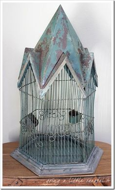 love this bird cage  More At FOSTERGINGER @ Pinterest