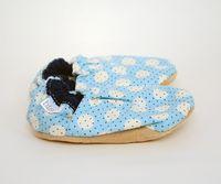 81b6dd50a99ec Polkadot Baby Blue Bison Booties 6-12 months polka dot