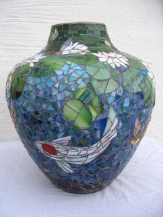 Venta de florero  estanque de peces koi de por ParadiseMosaics