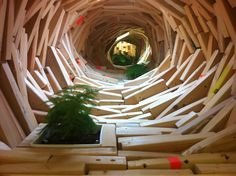 Spontaneous Architecture tunnel by Phoebe Washburn
